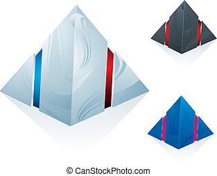 pirámide, Conjunto, icono