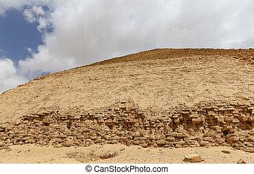 pirámide, doblado, egipto, el cairo, dahshur, necropolis