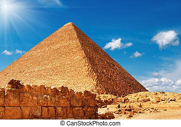 pirámide, egipcio