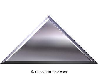pirámide, plata, 3d