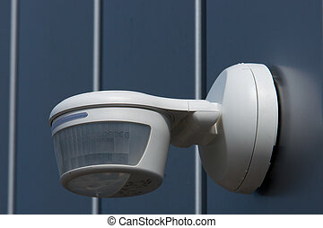 PIR to detect people - Passve InfraRed detector mounted on a...