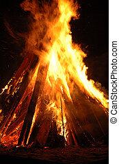 pira, campfire, -, hoguera