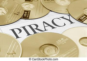 piractwo, słowo, cd