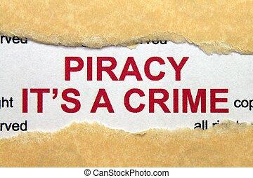 piractwo, to jest, zbrodnia