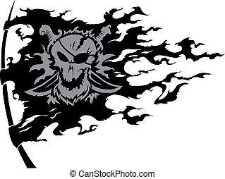 Piracy flag v.2(corrected) - The piracy torn apart flag is...