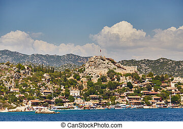 Piracy fortress of Kalekyoy, Kekova, Turkey - a photo 1