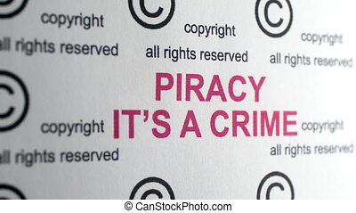 Piracy it is crime copyright symbol