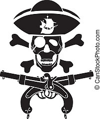piracy symbol with skull