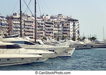 piraeus, マリーナ, アテネ, ギリシャ