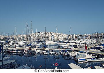 Piraeus Marina in athens, Greece.