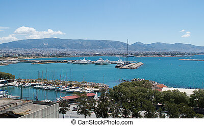 Piraeus view in Athens, Greece