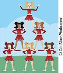 piramide, cheerleader