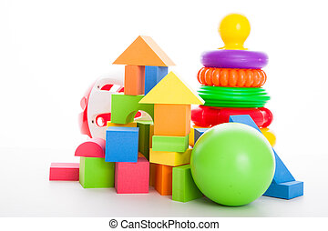 piramide, cubi, palla