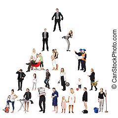 piramide, de, pessoas reais