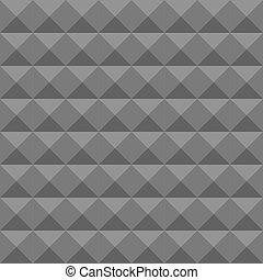 piramide, espuma, pattern., parede, textura, seamless, soundproofing., vetorial, acústico, geomã©´ricas