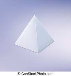 piramide, geometrico, forma., fondamentale