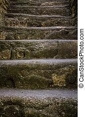 piramide, guatemala, mayan, 階段, tikal