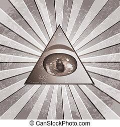 piramide, olho