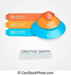 piramide, pictogram, voor, zakelijk, creatief, graph.
