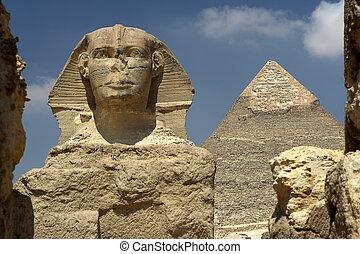 piramide, sphynx