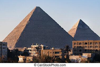 piramides, egito, cairo, giza