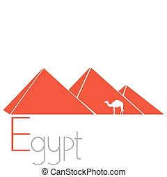 piramides, vector, illustratie, egyptisch
