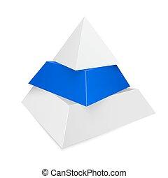 piramis, ikon, helyett, ügy fogalom, háttér.