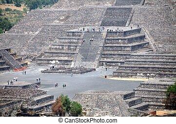 piramis, teotihuacan, mexikó