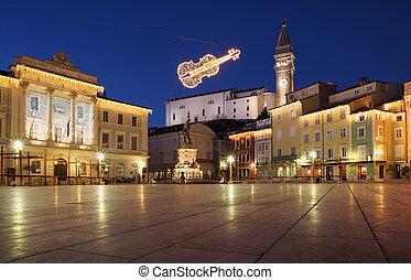 Piran - Slovenia - Picturesque old town Piran, Slovenia -...