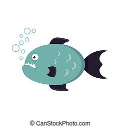 piranha fish vector illustration