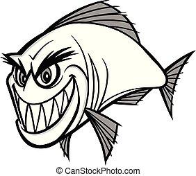 piranha, illustrazione