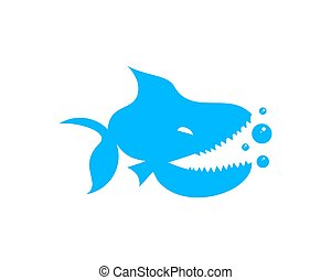 piranha logo - is a symbol associated with aquatic animals,...