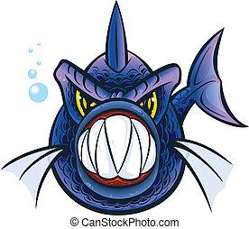 Piranha - Vector illustration of a piranha