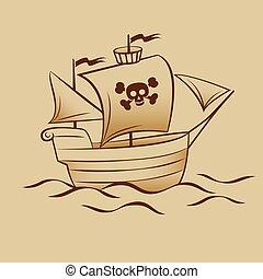 pirat, łódka