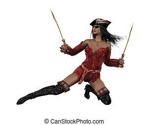 pirat, 1, -, kobieta