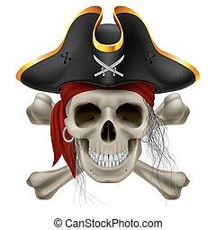 pirat, czaszka