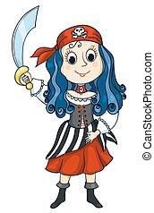 pirat, dziewczyna