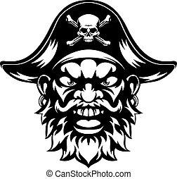 pirat, rysunek, maskotka