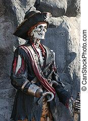pirat, skelett