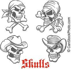 pirat, sketched, szeryf, kowboj