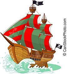 pirat, statek