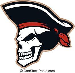 pirat, totenschädel, maskottchen