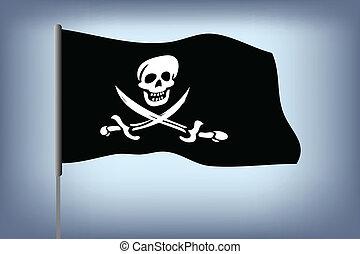 pirata, bandera