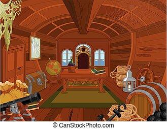 pirata, cabana