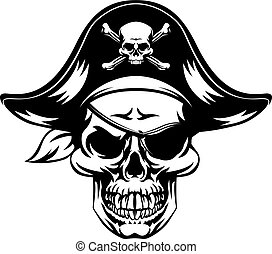 pirata, cranio, mascote