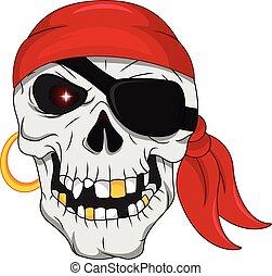 pirata, cranio, mascotte