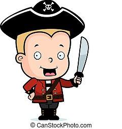 pirata, criança