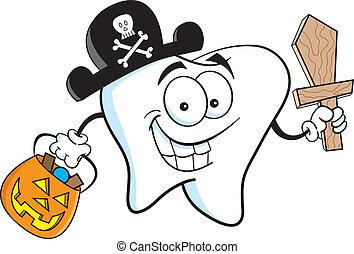 pirata, dente