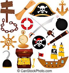 pirata, equipments, navegación