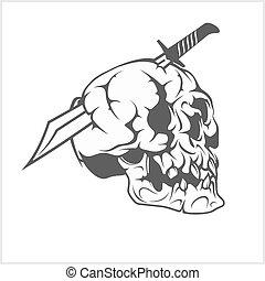 pirata, espada, cranio